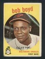 1959 Topps #82 Bob Boyd GVG Orioles UER 72490
