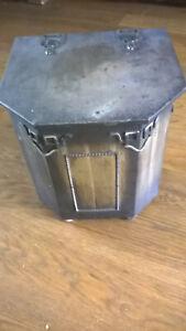 Antique Art Deco Metal Coal Box