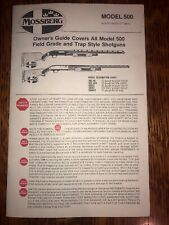 Mossberg 500 AG ASG CG EG AHT Factory Owners Instructions Manual ORIGINAL 1970's