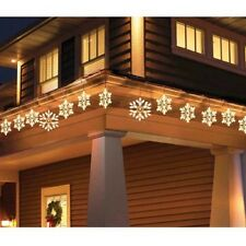 Holiday Time 9 PK Twinkling Clear Snowflake Icicle Christmas Lights White Wire