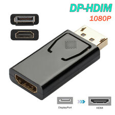DisplayPort Male To HDMI Female Adapter Black DP To HDMI Converter For HDTV PC