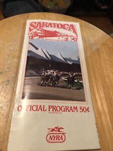 Saratoga Raceway Horse Racing Program August 13, 1986