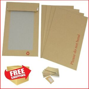30  ENVELOPES A3 C3 HARD CARD BOARD BACKED BROWN PLEASE DO NOT BEND 457 x 324MM