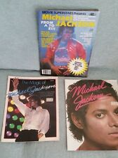 Lot of 3 MICHAEL JACKSON  magazine, photo books
