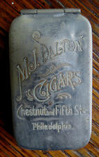 OLD M.J. DALTON CIGARS ADVERTISING MATCH SAFE - Philadelphia