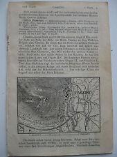 stampa antica map MAPPA PIANTA LAZIO FROSINONE CASSINO MONTECASSINO 1911 RARA