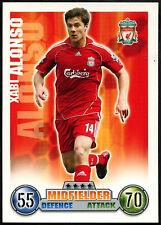 Manuel Alonso, Liverpool Fútbol Topps Match Attax 2007-2008 tarjeta de comercio (C395)