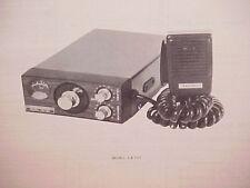 1977 RAY JEFFERSON CB RADIO SERVICE SHOP MANUAL MODEL CB-707