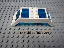 LEGO SKYLIGHT WINDOW 4x10x2 Overhead Panels White with Blue Glass Curved Arched