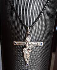 Johnny Hallyday-pendentif Croix  guitare,initiale et Dates gravées dos  6 x 5cm