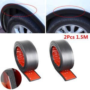 2Pcs Black 40mm Car Wheel Fender Flares Edge Cover Moulding Trim Protector 1.5M