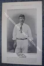 RARE Original Famous Cricketers, #004 Arthur Shrewsbury, Notts, Cricket 1895