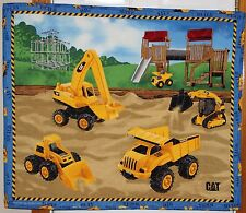 Caterpillar Tractor Playground Handmade Quilt Playmat