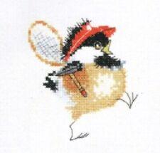 Heritage Crafts Tennis Chick Chickadees Cross Stitch Kit  by Valerie Pfeiffer