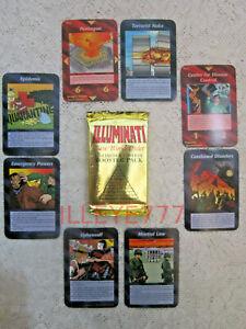 1995 Illuminati Card Game INWO  1 Booster Pack  NEW WORLD ORDER  NUKE  PANDEMIC