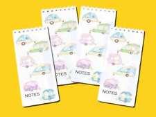 Caravan Jotter Memo Notepads pack of 4 slim pocket size Gift Set
