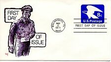US FDC #U557 Eagle, Marg (0490)