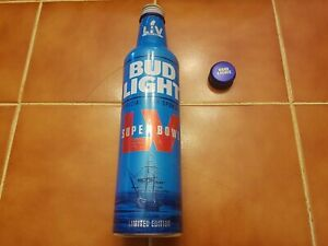 Bud Light Super Bowl  LV Limited Edition aluminum beer bottle