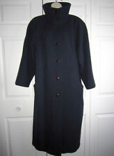 Vintage Navy Blue A TRIGERE COAT 100% Wool - Long Full Length - Union Made