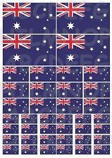DRAPEAU AUSTRALIE:40 autocollants rèsistant l'eau STICKERS vinyle AUSTRALIA FLAG
