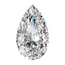 12 X 7.5 MM 2.87 CT H-I Near White Pear Tear Drop Cut Loose Moissanite 4 Ring