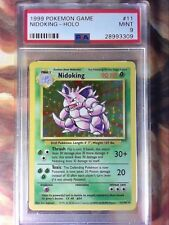 1999 Pokemon Game 11 Nidoking-Holo Base set Unlimited PSA 9 Mint