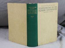 Buch: Einführung in die höhere Mathematik Band 2- Mangoldt / Knopp 1947  /S290