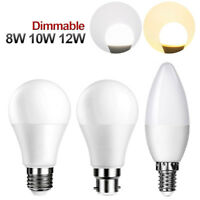 6W 8W 10W 12W E27 E14 B22 Dimmable LED Bombilla Vela / Globo GLS Luces ES SES BC