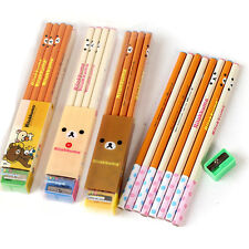 Rilakkuma Stationery set - 8x Wooden Pencil 1x Pencil Sharpener School Supplies