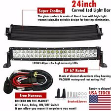 24Inch 120W Curved Led Light Bar Flood Spot Combo Work Lights 4WD UTE OFFROAD 20