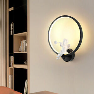 30cm Modern Wall Light Acrylic Angel Lights LED Nordic Round Lamp Home Decor