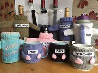 Mug Hug / Cosy / Wrap / Cover Keep your drink warm Hand Made Gift