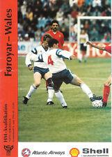 More details for faroe islandsv wales world cup qualifier 6 jun 1993