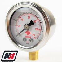 Weber High Pressure Fuel Gauge - Sytec SX RCM RL Regulators 0-120 PSI 8 BAR ADV