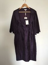 Queenspark Jacket & Layered Dress Purple, Size 10, BNWT, RRP $400