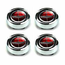 Set Of 4 Torino Fairlane Falcon Comet Magnum 500 Red Ford Crest Wheel Caps New
