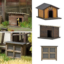 OO/HO Building accessories - Rabbit Hutch & 2 Dog Houses Busch 1522 free post F1