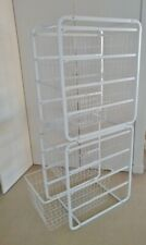 storage baskets with frame x 2 wire stackable organisers