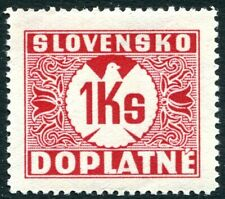 SLOVAKIA-1939 Postage Due 1k Red No Watermark Sg D58A UNMOUNTED MINT V32089