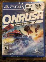 Onrush - Day one Edition PS4 (Sony PlayStation 4, 2016) Brand New - Region Free