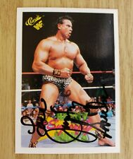 VINTAGE JIMMY SNUKA THE SUPERFLY WWE WWF AUTOGRAPHED SIGNED CARD TITAN 1990