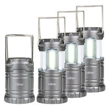 4 X LED Collapsible Portable Lanterns Torch Light Camping Shed Garage Fishing