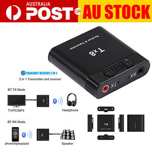 2 in 1 Transmitter Receiver Wireless Bluetooth 3.0 + EDR for TV Audio Adapter AU