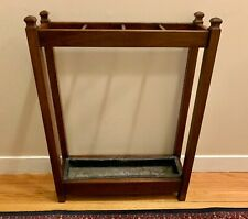 Antique Arts & Crafts Mission Style Mahogany Umbrella Stand