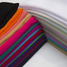 "Premium Crepe Chiffon plain Dyed Oeko-Tex fabric 44/45"" decoration,craft & dress"