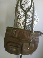 MULTISAC MULTI SAC brown purse handbag ORGANIZER NWOT