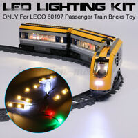 ONLY LED Light Lighting Kit For LEGO 60197 Passenger Train Building Block  ﹊