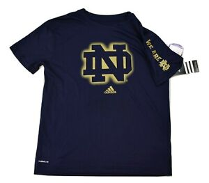 adidas Youth Boys Notre Dame Fighting Irish We Are ND Shirt NWT S(8)