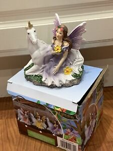 NEW BOXED THE FAIRIES ENCHANTED GARDEN FAIRY ORNAMENT STATUE FIGURINE GIFT