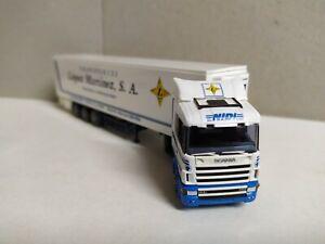 Camión Scania, tráiler Transportes López Martínez , AWM 54332 , escala 1/87